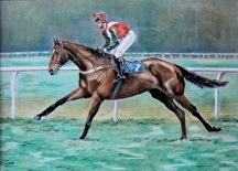 Off to the start pastel painting by Soraya