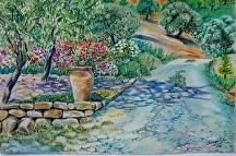 Flower path in pastels by Soraya