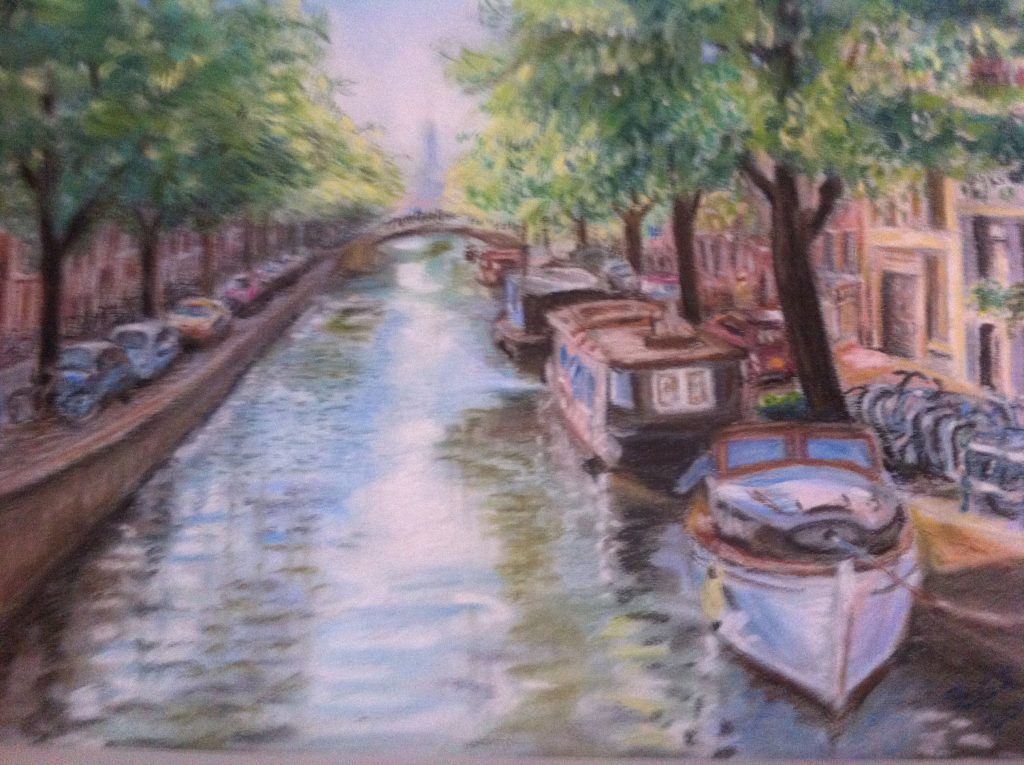 Amsterdam Canal in pastels